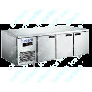 Bancada Frigo Refrigerada em Aço Inox 3 portas