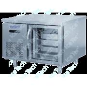 Bancada Frigo Refrigerada em Aço Inox 1 Porta Vidro