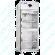Armario Frigorifico Refrigerado em Aço Inox 2 Portas de Vidro para Medicamentos